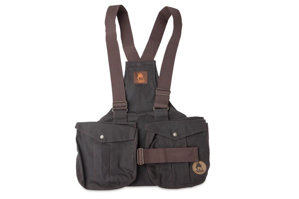 Firedog Waxed Cotton Dummy Vest Trainer L Brown Wdvt102
