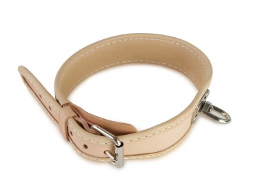 Blood tracking leather collar 40 cm nature