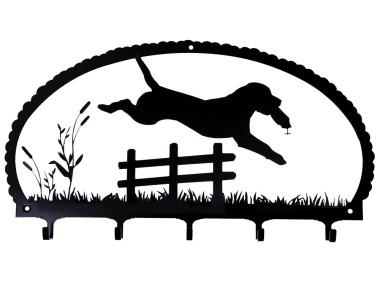 Dog Key Rack Jumping Labrador Retriever