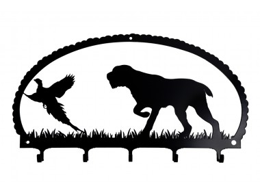 Dog Key Rack Pointing Wirehaired Pointer