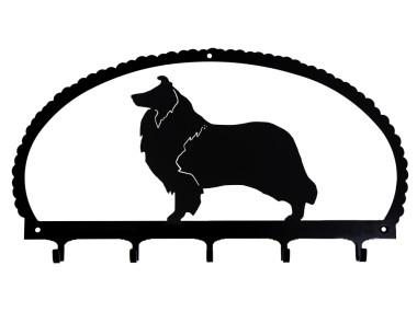 Dog Key Rack Rough Collie
