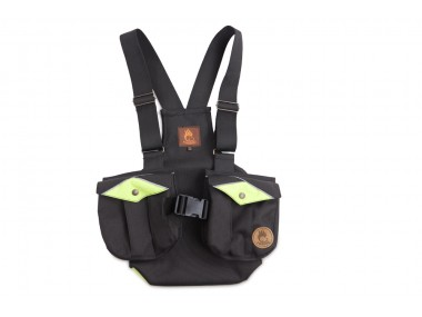 Firedog Dummy vest Trainer for children 140-146 black/neon green