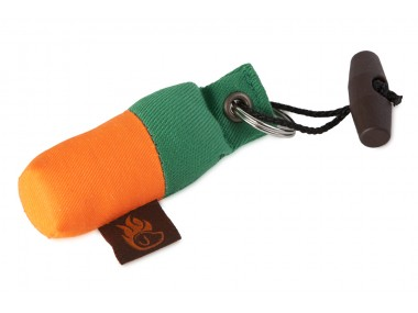 Firedog Keychain minidummy green/orange