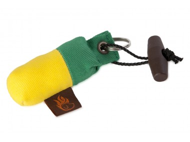 Firedog Keychain minidummy green/yellow