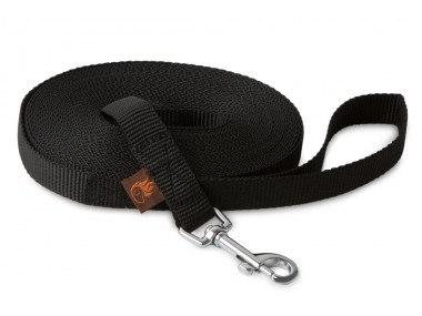 Firedog Tracking leash 20 mm classic snap hook 15 m black