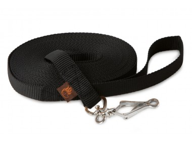Firedog Tracking leash 20 mm scissor snap hook 8 m black
