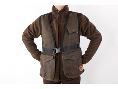 Firedog Waxed cotton Dummy vest Hunter L brown