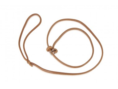 Moxon leather leash with leatherstop 6 mm ca. 120 cm nature