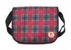 Firedog Dummy bag L red tartan